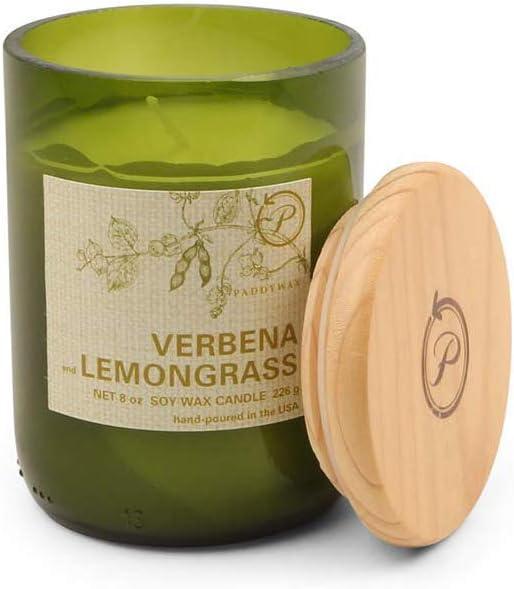 Color: Verde Paddywax la Fragancia: Lavanda//Mandarin Vela Ecol/ógica en Frasco de Vidrio