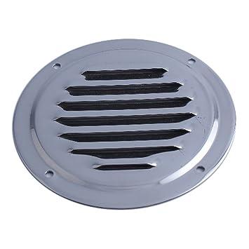 Rejilla de ventilación redonda con láminas (acero inoxidable ...