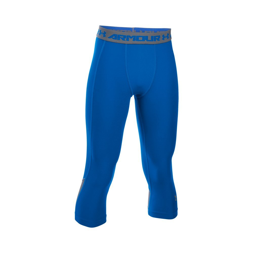 Under Armour Boys' HeatGear Armour Up Fadeaway Fitted ¾ Leggings, Ultra Blue /Graphite, Youth X-Large