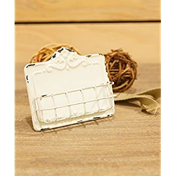 Amazon vintage style antique white business card holder home vintage style antique white business card holder reheart Image collections