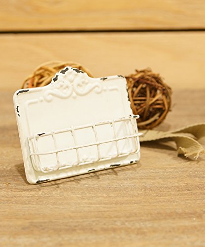 Antique White Business Card Holder