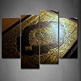 First Wall Art - Islam Book Wall Art Painting The Picture Print On Canvas Religion Pictures For Home Decor Decoration Gift