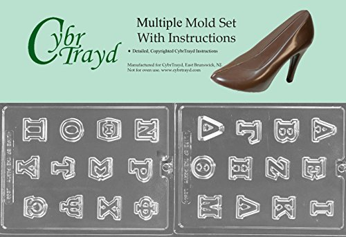 Cybrtrayd BUN-L054L055 2-Piece Greek Letters Chocolate Molds