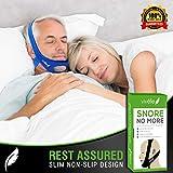Vivélle Snore No More Anti Snoring Chin Strap Slim-Non-Slip Design for Men Women Snore Stopper Device