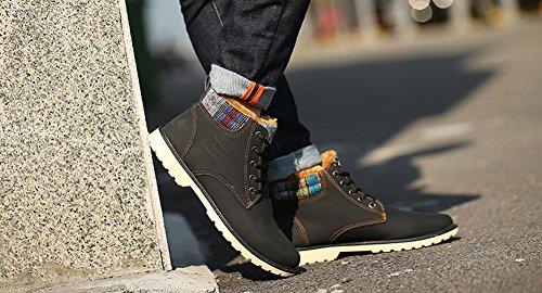 Up Mens Cool Bancebs Blue Leather Boot Bancebs Lace Cool Stylish wqXxH7Xf