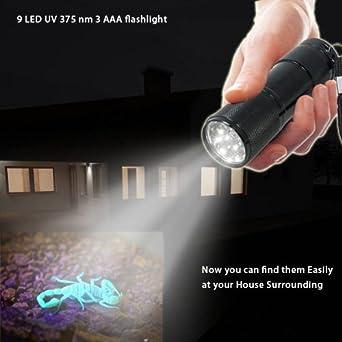 Abco Tech Black Light Flashlight Urine Detector