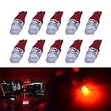 194 LED Light Bulb YUMSEEN 10pcs Xenon White T10 1W 2825 3SMD Wedge LED Light Bulbs US 192 168 194 (Red)