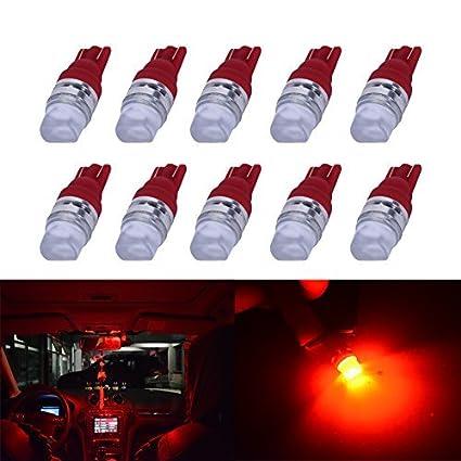 194 LED Light Bulb YUMSEEN 10pcs Xenon White T10 1W 2825 3SMD Wedge LED Light Bulbs US 192 168 194 (BULE)