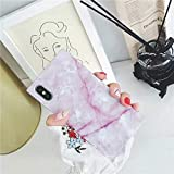 Cocomii Square Marble iPhone Xs/iPhone X Case, Slim Thin Glossy Soft Flexible TPU Silicone Rubber Gel Trunk Box Square Edges Fashion Phone Case Bumper Cover for Apple iPhone Xs/X 5.8 Inch (Pink)