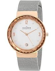 Skagen Womens 456LRS Leonora Stainless Steel Mesh Watch