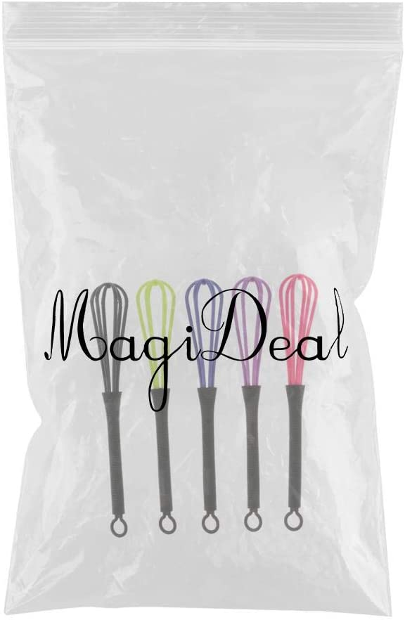 5pcs Salon Hairdressing Dye Whisk Balloon Whip Mixer Stirrer Egg Beater Random Color
