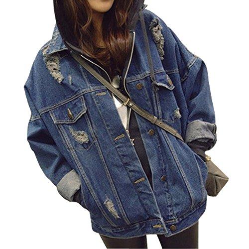 Distressed Denim Jacket - 8