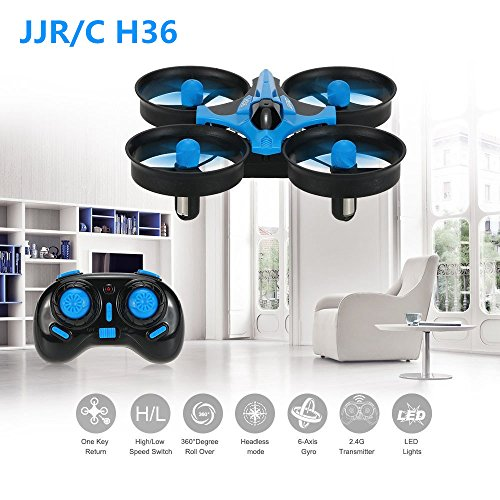 JJRC H36 抗衝撃 ドローン ミニ ポケット マルチコプター ポケット 玩具 プレゼント (ブルー)の商品画像