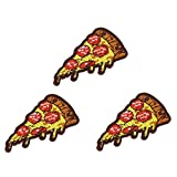U-Sky Sew or Iron on Patches for Kids Clothing - Slice Pizza Patch