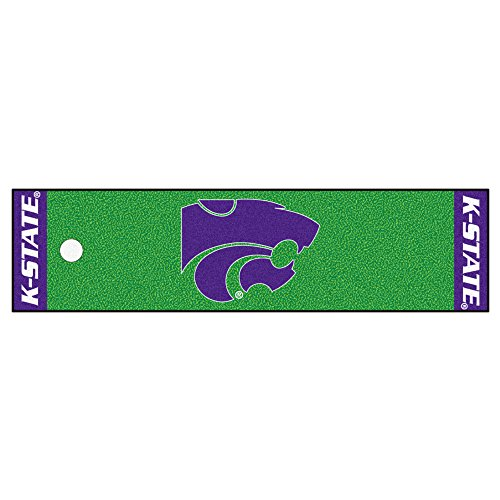 FANMATS NCAA Kansas State University Wildcats Nylon Face Putting Green Mat
