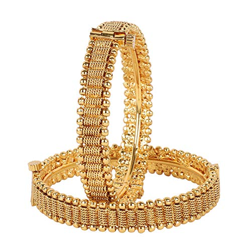 MUCH-MORE Exclusive Gold Plated Polki Bangles Traditional Party wear Jewelry for Women. (381, ()