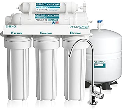 APEC Top Tier Ultra Safe Built in USA Reverse Osmosis Drinking Water Filter System (ESSENCE ROES-50)