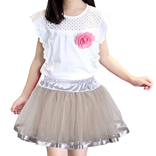 63a048ae0f57 Shimaly Girls Ballet Tutu Skirts Princess Party Dress Soft Tulle Layered  Underskirt Petticoat for 2-