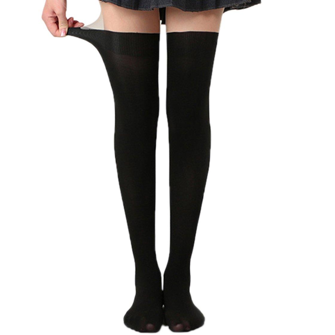 Damen Überknie Overknee Lang Socken Stricken-Strümpfe-Kniestrümpfe-Stockings w//