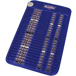 "GemsMat - Isabella- Far Infrared Amethyst Jade Obsidian Crystal Stone Blue Mat (32""L x 20""W) - Negative Ion - FIR Therapy -FDA Registered Manufacturer - Adjustable Timer & Temperature - Heating Pad"