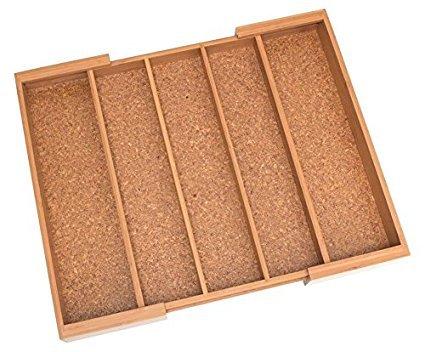 Lipper International 8894 Bamboo Expandable Utensil Holder with cork bottom 3-Pack
