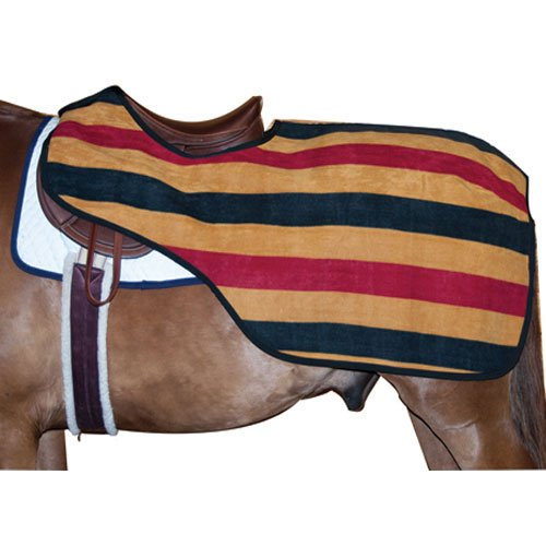 Rambo Newmarket Fleece Cooler - Intrepid International Quarter Sheet with Traditional Stripes, Gold/Black/Red, Medium