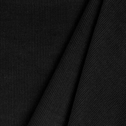 (Black 21 Wale Corduroy Fabric - By the Yard)