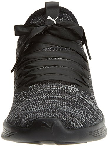 Puma Damen Ignite Flash Evoknit Satin EP Wns Cross-Trainer Outdoor Fitnessschuhe Schwarz (Puma Black-Periscope-Metallic Beige)