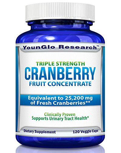 Triple Strength Natural Cranberry - Cranberry Pills - Triple Strength PACRAN Concentrate - Supports Urinary Tract Health - 120 Soy-Free Non-GMO Vegetarian Capsules (1 Pack)