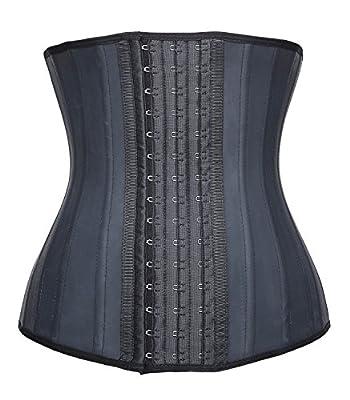 Camellias Latex Waist Trainer Corset Shapewear Waist Cincher Belt Body Shaper