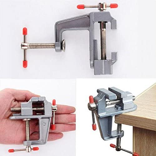 YIWMHE 1 PC 3.5 Inch Aluminum Small Jewelers Hobby Clamp On Table Bench Vise Mini Tool