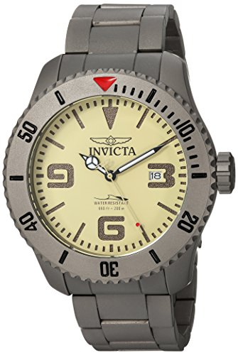 Invicta Men's 'Pro Diver' Automatic Titanium Diving Watch, Color:Silver-Toned (Model: 23124) (Watch Diving Titanium)
