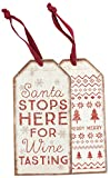 Bottle Tag - Stops Here, Set of 3