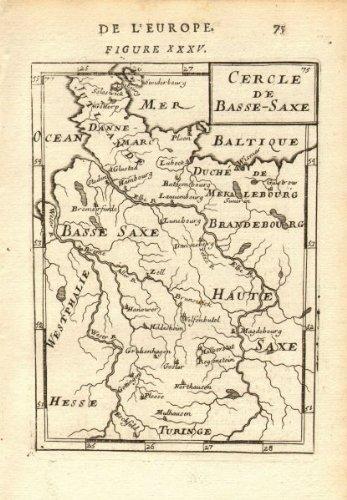 Lower Saxony Germany Map.Amazon Com Lower Saxony Niedersachsen Cercle De Basse Saxe Hamburg