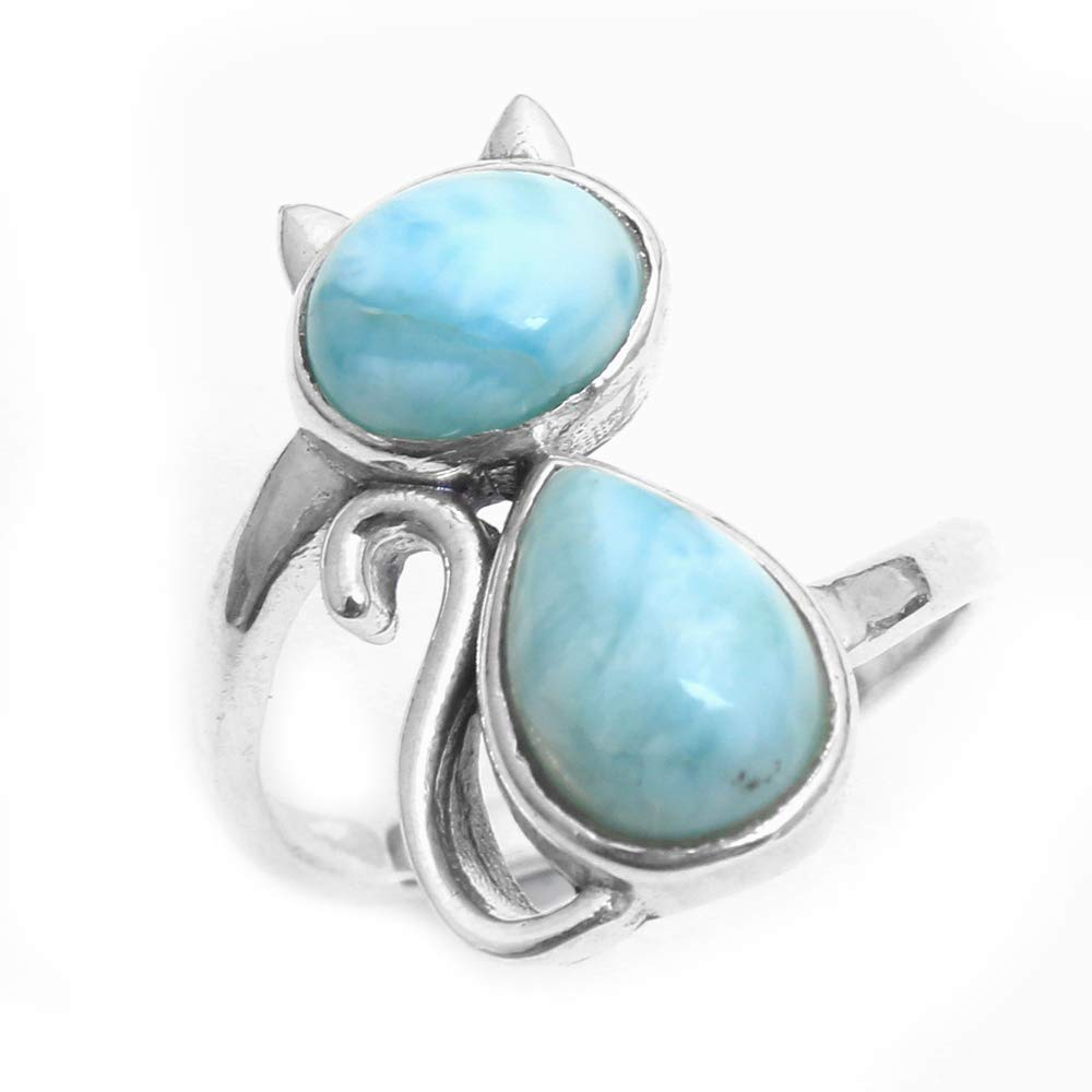 Protection and Healing Small Tiny Gemstone 925 Sterling Silver Turquoise Ring