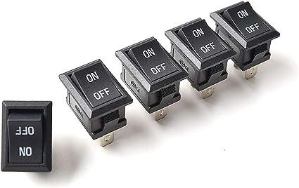 DC AC Basculante Interruptor 2 Pines SPST, Mini Encendido/Apagado ...