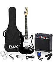 """LyxPro Electric Guitar 39"""" inch Complete Beginner Starter kit Full Size with 20w Amp, Package Includes All Accessories, Digital Tuner, Strings, Picks, Tremolo Bar, Shoulder Strap, and Case Bag - Black"""