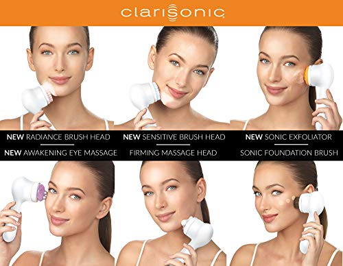 Clarisonic New Mia Smart 4 Piece Set for Cleansing, Smaller Pores, Acne, Fine Lines, Eye Puffiness, Crow's Feet, Sagging Jawline and Foundation Application by Clarisonic (Image #2)