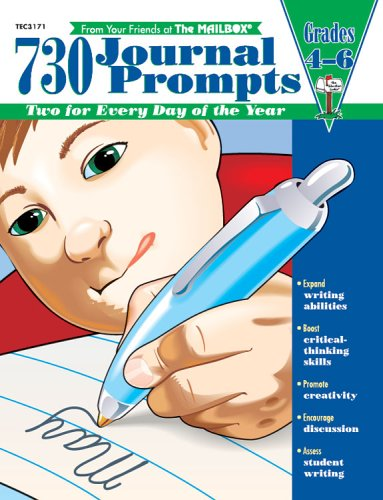 730 Journal Prompts: Grades 4-6: Mailbox