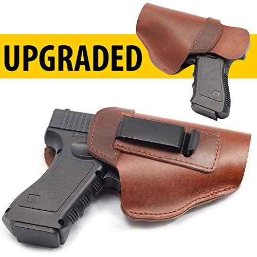 Briteree Soft Leather IWB Holster for Glock 19 43 17 26 22 48 43x 19x 27 M&P Shield 9mm - Right Hand