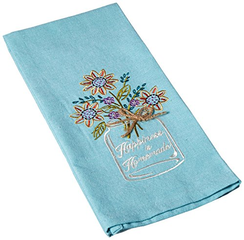 - Kay Dee Designs Happiness Mason Jar Embroidered Tea Towel