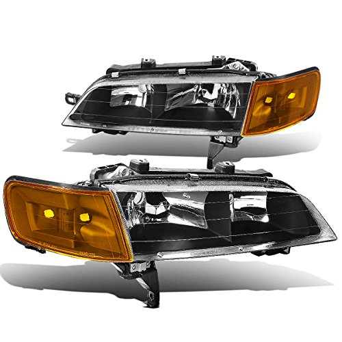 DNA Motoring HLCL-HA94-BK-AM Headlight Assembly, Driver and Passenger Side (94 Accord Headlights Driver Side compare prices)