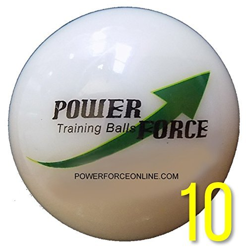 Power Force (10 Baseballs) - 3'' Dia. 15oz - Weighted Training Baseballs for Batting by Power Force Training Balls