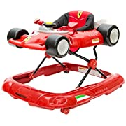 Combi Ferrari F1 Foldable Baby Walker with Racing Wheels, Steering Wheel, Activity Center and Built In Snack Tray
