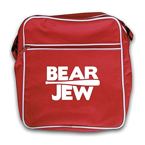 Red Flight Bag Bear Bear Jew Red Retro Jew 60HHRq