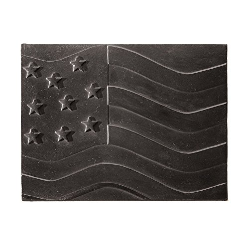 Minuteman International American Flag Cast Iron Fireback Minuteman Fireback
