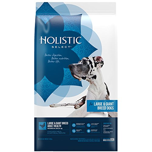 Holistic Select Natural Dry Dog Food, Large & Giant Breed Adult Recipe, 30-Pound Bag ()