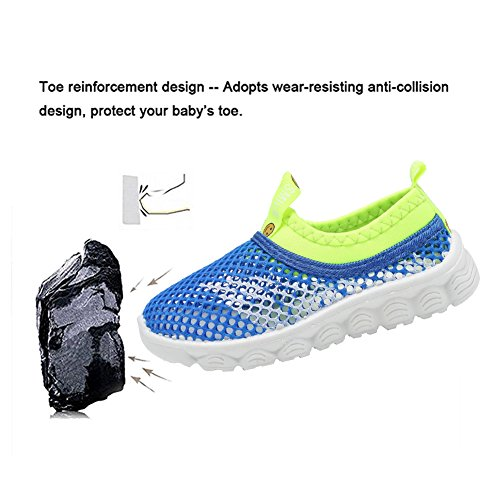 CIOR Kids Light Weight Sneakers AquaShoes Breathable Slip-on For Running Pool Beach Toddler / Little Kid,S633Blue,32 5