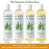 Organic Aloe Vera Gel Great for Face, Hair, Sunburn Relief, Dry Winter Skin, Acne, Razor Bumps, Psoriasis, Eczema - 12 oz.