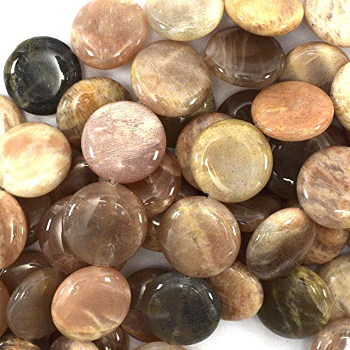 (18mm Sunstone Coin Beads 15.5